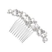 1x Milopon Bride Hair Comb Rhinestone Wedding Hair Comb Clips Bridal Hair Accessories