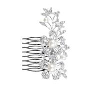 Milopon Hair Comb Rhinestone Flower Wedding Bride Hair Comb Clip Wedding Hair Accessories