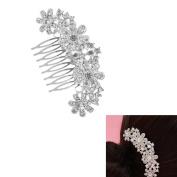 Milopon Hair Comb Rhinestone Flower Wedding Bride Hair Comb Wedding Hair Accessories