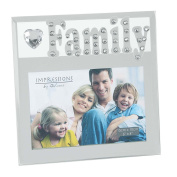 Juliana Mirror Glass And Crystal Frame 6x4 Family