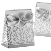 iShine Gold / Silver Ribbon Wedding Favour Boxes 50pcs Beautiful Candy Boxes Gift Boxes