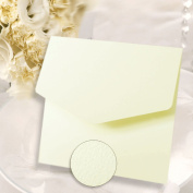 Ivory Hammered Effect Textured Square Pocketfold Invitations (MATCHING Envelopes & Inserts to Print Inc) x 10