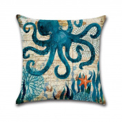 Seabed Animal Home Decor Cushion Cover Marine Life Throw Pillowcase Pillow Covers