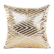 Pillow Case, Prevently Gold Foil Printing White Pillow Case Sofa Waist Throw Cushion Cover Home Decor