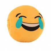 DIKEWANG Creative 32cm Removable and Washable Emoji Smiley Emoticon Yellow Round Plush Cushion Stuffed Plush Soft Pillow