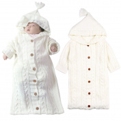 Infant Newborn Toddler Baby Sleeping Bag Hooded Knit Warm Sleep Sack Swaddle Stroller Wrap
