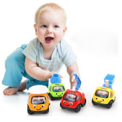 17YEARS Lovely Cartoon Classic Truck Vehicle Mini Pull Back Car Kids Baby Child Toy Gift