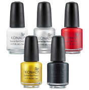 KONAD Pack of 5 Stamping Polishes - each 5 ml