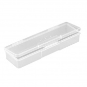 Domybest Nail Art Storage Display Box Holder Plastic Translucent Organiser Container Case for Jewellery, Earrings, Necklaces and Nail Tools