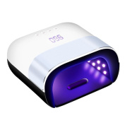 MINFAN 48W LED UV Nail Dryer Curing Lamp, 10S/30S/60S/99S Timer Setting and Automatic Sensor LCD for Fingernail & Toenail Gels