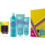 Phil Smith Hair Gift Set with Wheat Protein Shampoo, Shea Butter Conditioner and Conditioning Treatment and 5 gentle hair bands