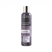 Leganza Shampoo Detox with Activated Charcoal for Deep Cleansing No Sulphates Paraben Free for All Hair Types