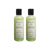 Khadi Neem and Aloevera Herbal Shampoo/Cleanser SLS and Paraben Free - 210mlx2 bottles