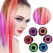 Cosprof Hair Colouring Chalk Set-Hair ,Temporary DIY Colour for Girls Hair for All Ages,6 Colours