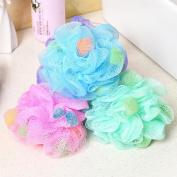 Bath Shower Sponge 4Pcs PE Soft Bath Ball Rich Bubbles Bath Sponge Brush For Bathroom Shower