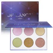 DE'LANCI Highlighter Palette Makeup - 2 Duo Chrome Highlighter -Illuminator Highlighter & Bronzer Powder Contour Collection Set