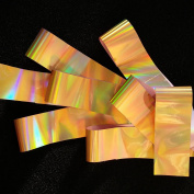 GOLD RAINBOW Holographic Nail Art Foil Decoration Wrap Transfer
