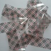 CLEAR BLACK SMALL TARTAN Clear Nail Art Foil Decoration Wrap Transfer