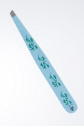 Blue Tweezers For Precision sopraciglia Painted