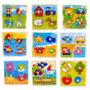 Wicemoon 1 Pc Baby Toddler Intelligence Development Animal Cognize Wooden Colourful Brick Puzzle Toy For Children Colour Random