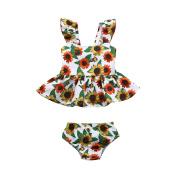 Fulltime Baby Tracksuit, (TM) 2Pcs Infant Girls Floral Print Sunflower Dress Shorts Set