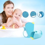 Baby Child Bathing Cup, UPXIANG Cartoon Whale Tear-Free Waterfall Rinser Bathing Water Spoon Safety Bathing Cup