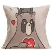 Pillow Case, Prevently Fashion Red Heart Lovers Painting Linen Cushion Cover Throw Waist Pillow Case Sofa Home Decor