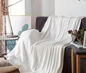 GuiXinWeiHeng Knitted rugs cotton wool blanket sofa blanket knit line blanket blanket , 1