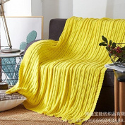 GuiXinWeiHeng Knitted rugs cotton wool blanket sofa blanket knit line blanket blanket , 3