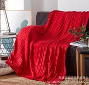 GuiXinWeiHeng Knitted rugs cotton wool blanket sofa blanket knit line blanket blanket , 2