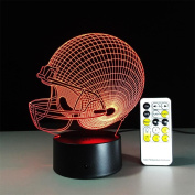 DREAM LAMP 3D Illusion Lamp Touch Remote Control Decor Lights Optical Visual LED Night Light House Desk Office Decor Xmas kids Gift(Rugby Cap/Tooth) , Couple