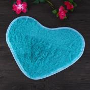 Vanpower Soft Heart Design Fluffy Mat Rug Bedroom Carpet Floor Cover Decor