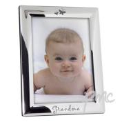 Silver Plated 5x7 Grandma Photo Frame