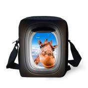 HUGS IDEA Animal Print Mini Sling Shoulder Bag Satchel Crossbody Small Handbags for Boys Girls