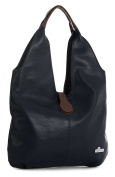 LiaTalia Genuine Italian Soft Leather Large Hobo Shopper Shoulder bag with Protective Dust Bag - Zoe