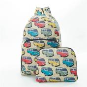 Folding Backpack Rucksack Camper Van Design In Beige