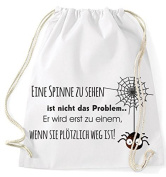 Jute Bag Gym Bags SPORTS BAG CLOTH BAG Cotton Bag Bag Backpack Gymsack Spider Web One Spider to See Is Not the Problem - White