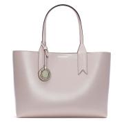 Emporio Armani Frida Pink Textured Shopper Bag