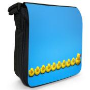 Rubber Ducks Small Black Canvas Shoulder Bag / Handbag