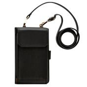 Millya 2 in 1 Phone Bag and Purse Set with 9 Card Slots Ladies Plain Shoulder Bag Clutch Handbag