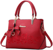 PU Leather Handbags for Women Ladies Vintage Soft Leather Tote Shoulder Bags Messenger Bags