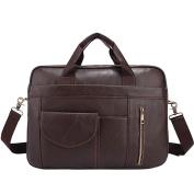 GTUKO Genuine Leather Men Bag Crossbody Bags Zipper Messenger Brand Handbag Shoulder , Coffee