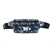 521s Fashion Waist Bag Cute Fanny Pack | 20x6x11 cm | Butterfly