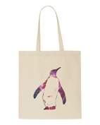 Cosmic Space Nebula Animal Silhouette Penguin Tote Bag Shopper