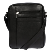 Christian Wippermann® Men's Shoulder Bag Black black 20x25x6 cm