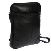 Christian Wippermann® Men's Shoulder Bag Black black 21x26x5 cm