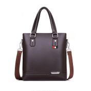 GTUKO Genuine Leather Man Shoulder Bag Leather Briefcases Messenger Bags Office Work Bags , Brown