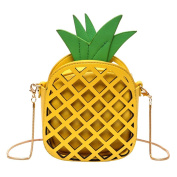 Espeedy Pineapple Shape Hollow Chain Strap Ladies Girls Shoulder Bags For Travel Hiking
