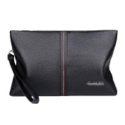 Men's Genuine Leather Clutch Bag Business Hand Bag Large Capacity Envelope Package Zipper Wallet Purse