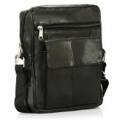 ODS:UK® MENS / WOMENS REAL LEATHER TRAVEL SHOULDER MAN BAG CROSS BODY MESSENGER